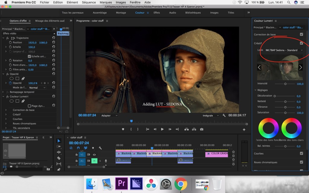 how to color grade in premier pro prores log step 3