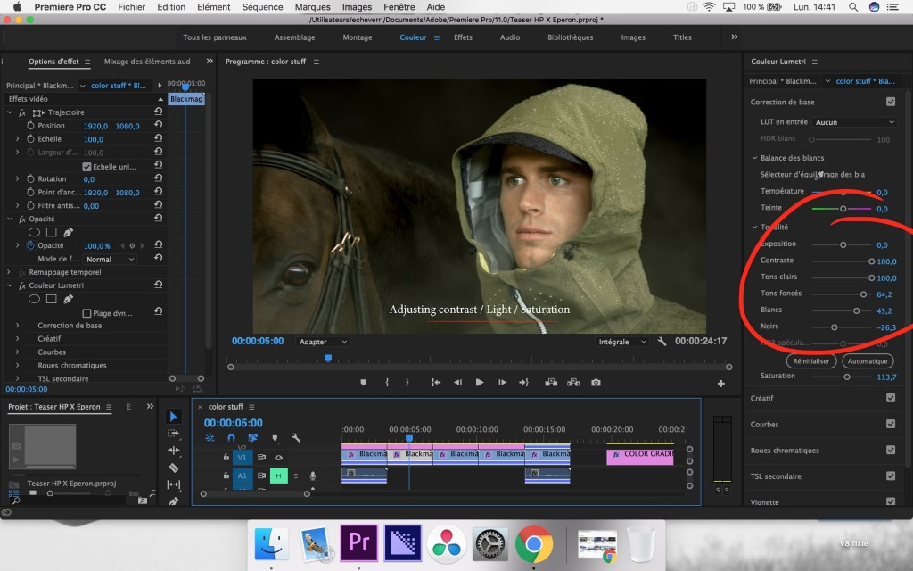 how to color grade in premier pro prores log step2