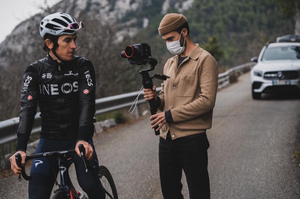 Gerraint Thomas Conti/Pact shoot. Nice, France Photo by Matt Wragg